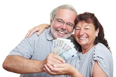 Couple Winning Money